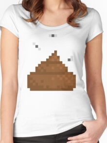 Pixel poo Women's Fitted Scoop T-Shirt