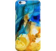 Iced Lemon Drop - Abstract Art By Sharon Cummings iPhone Case/Skin