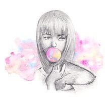 Ms Bubble Photographic Print