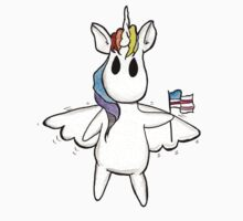 Patriotic Unicorn - Rainbow American Flag / Alicorn / Pegasus One Piece - Short Sleeve