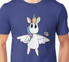 Patriotic Unicorn - Rainbow American Flag / Alicorn / Pegasus Unisex T-Shirt