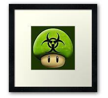 Biohazard Mario's mushroom Framed Print