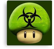 Biohazard Mario's mushroom Canvas Print