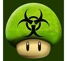 Biohazard Mario's mushroom Photographic Print