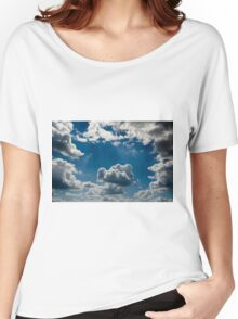 relief  beautiful clouds in during the late evening Women's Relaxed Fit T-Shirt