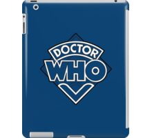 Doctor Who Diamond Logo Blue White Lines. iPad Case/Skin