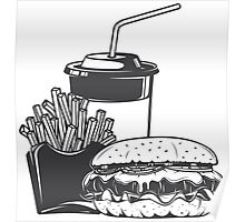 Burger combo Poster