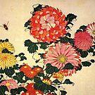 'Chrysanthemum and Bee' by Katsushika Hokusai (Reproduction) by Roz Abellera Art Gallery
