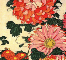 'Chrysanthemum and Bee' by Katsushika Hokusai (Reproduction) Sticker