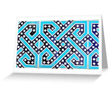 Traditional decoration of ceramics Greeting Card