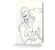Cullen: Happiness and a mabari Greeting Card