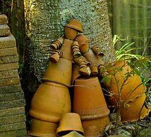 Bill & Ben, Two Drunk Flower Pot Men by Gabrielle  Lees