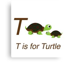 T is for Turtle Canvas Print