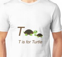 T is for Turtle Unisex T-Shirt