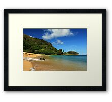 The Rock At Tunnels Beach Framed Print