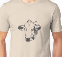 Lovely Cute Cow Sketched Design  Unisex T-Shirt