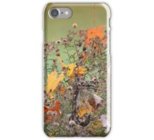 Goldfinch with Autumn Leaves in the Aster Fluff iPhone Case/Skin