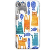 Crazy cats iPhone Case/Skin