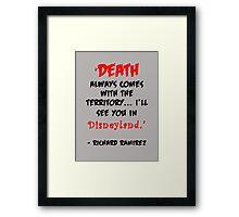 Richard Ramirez - Night Stalker, quote Framed Print