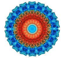 Seeing Eye - Kaleidoscope Mandala By Sharon Cummings by Sharon Cummings