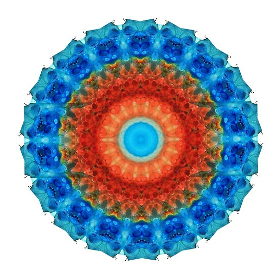 Seeing Eye - Kaleidoscope Mandala By Sharon Cummings by Sharon Cummings