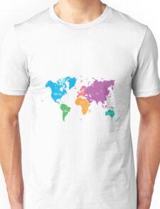 Continents World Map Unisex T-Shirt