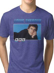 Louis Theroux 90s Blue Tri-blend T-Shirt