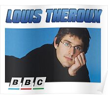 Louis Theroux 90s Blue Poster