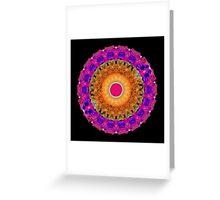 Positive Energy - Kaleidoscope Mandala By Sharon Cummings Greeting Card
