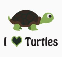 I heart turtles Kids Tee