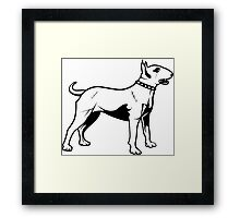 Pit Bull Terrier Old School Framed Print