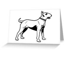 Pit Bull Terrier Old School Greeting Card