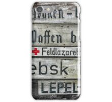 Signs of War  iPhone Case/Skin