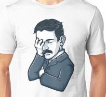 Nicola Tesla facepalm Unisex T-Shirt