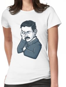 Nicola Tesla facepalm Womens Fitted T-Shirt