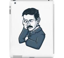 Nicola Tesla facepalm iPad Case/Skin
