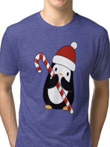 Christmas Penguin  Tri-blend T-Shirt