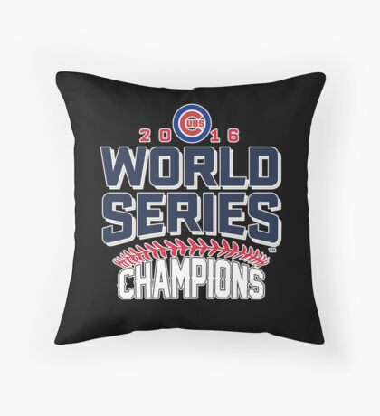 Chicago Cubs Champion World Series 2016 Throw Pillow
