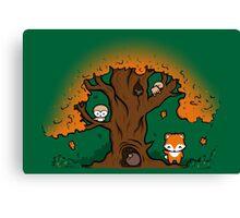 Autumn Friends Canvas Print