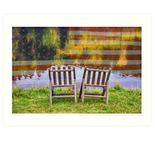 America Day Dreaming For Two Art Print