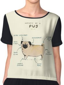 Anatomy of a Pug Chiffon Top