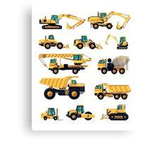 Construction machiner Canvas Print