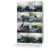 California Surfers Collage Greeting Card