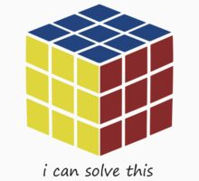i can solve this 'Rubiks Cube' Baby Tee