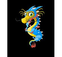 Lovely Dragon Vector Graphic Animinated Image Photographic Print