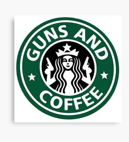guns and coffee RC Canvas Print