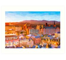 Gorgeous Dawn in Edinburgh Scotland - The Grassmarket Art Print