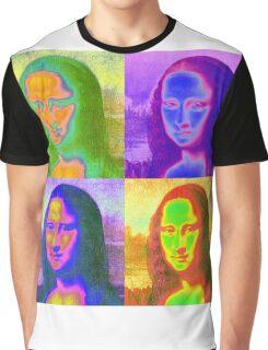 Mona Lisa Pop Art Graphic T-Shirt