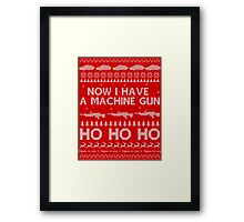 NOW I HAVE A MACHINE GUN - DIE HARD Framed Print