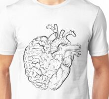 Follow your Heart and Listen to your Brain Unisex T-Shirt